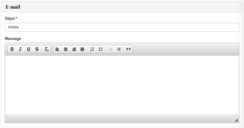 Personnalisation e-mail de convocation - Kalisport