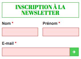 Bloc inscription newsletter - Kalisport