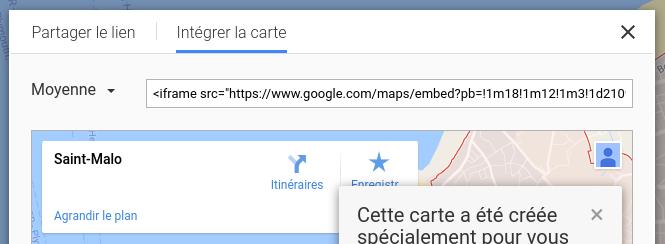 comment inserer une carte google map dans un document