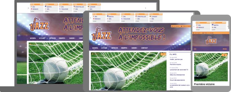 Thème Jazz - responsive design - compatible mobile/tablette