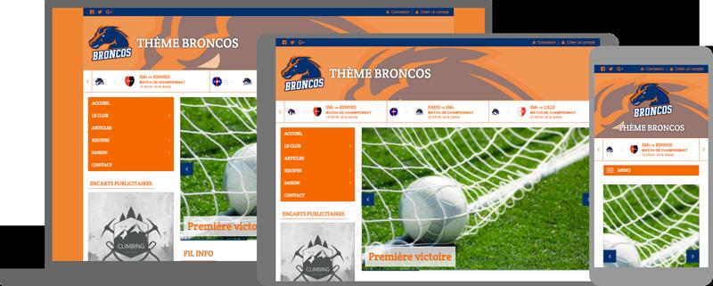 Thème Broncos - responsive design - compatible mobile/tablette