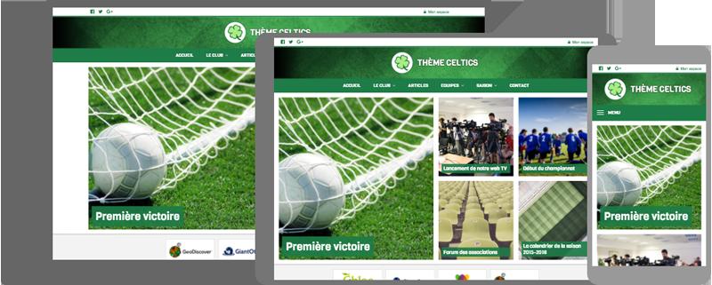 Thème Celtics - responsive design - compatible mobile/tablette