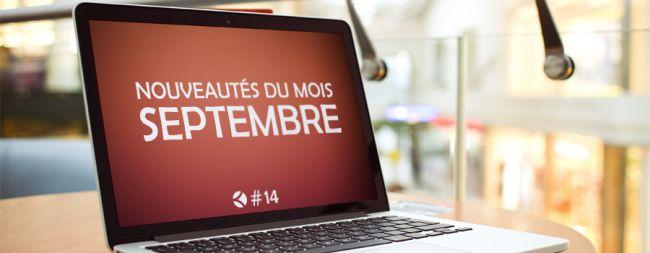 #14 : Les nouveautés du mois de septembre