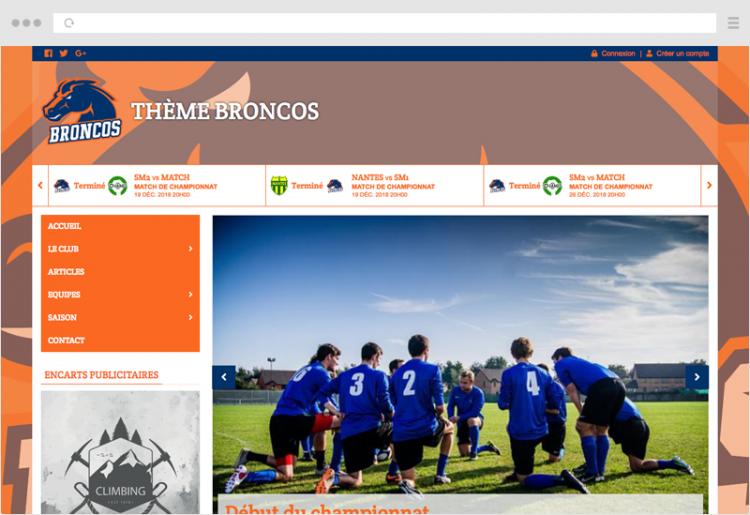Thème Broncos