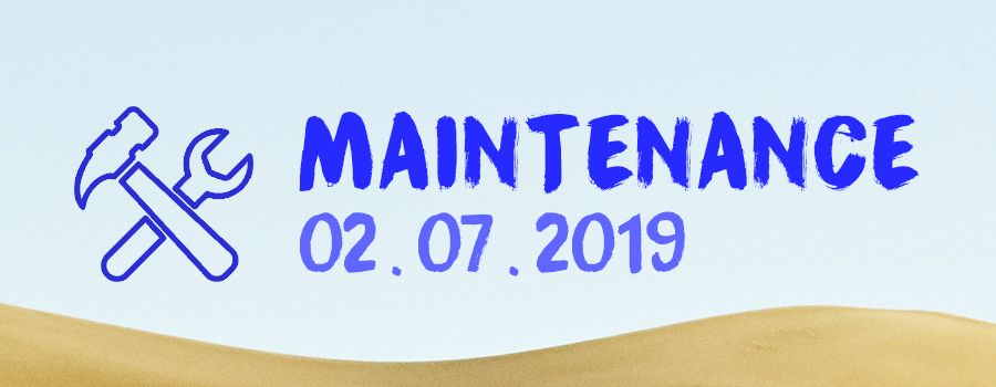 Opération de maintenance le mardi 02 juillet